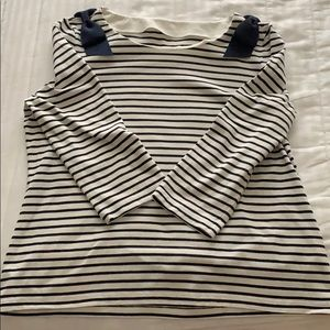 Kate Spade Broome St striped Breton with bows XL